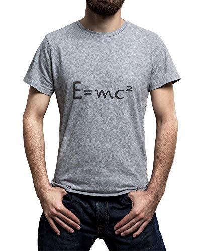 11af8375 Lilij E=MC2 Albert Einstein T-Shirt Hombre Gris Small