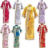 Fully Ensemble 7 Couleurs Chinois Style Qing Robe Qipao Jupe élégante Costume pour 29cm / 11,41' poupée