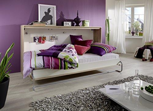 Querbett TIMON Schrankbett Foldaway Bed Horizontal 90x200cm in der Farbe Eiche Sonoma (ohne Matratze) - 2
