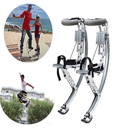 WXH Scarpe da Canguro per Adulti, Scarpe da Corsa con Rimbalzo Fitness, 155~200 libbre / 70~90 kg, trampoli da Salto per Uomo, Esercizio Fitness per Donna, Lega di Alluminio