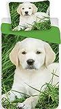 Bettwäsche mit Hund Hundebaby 140 x 200 cm 100%Baumwolle