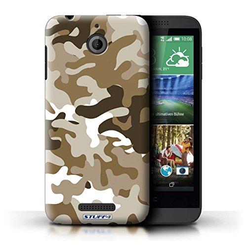 Kobalt® Imprimé Etui / Coque pour HTC Desire 510 / Rose 2 conception / Série Armée/Camouflage Marron 1
