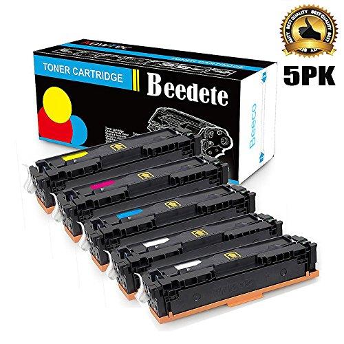 Beedete Kompatibel CF400X CF401X CF402X CF403X HP 201X 201A Toner Ersatz für HP Color Laserjet Pro M252, M252n, M252dw, M277, M277n, M277dw (2 x Schwarzes,Cyan,Magenta,Gelb, 5er Pack) -