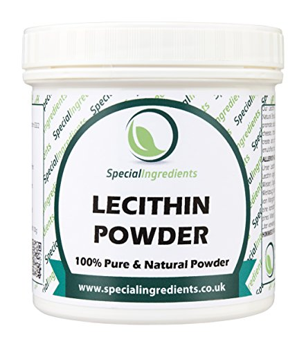 LECITHIN-PULVER 250g HÖCHSTER QUALITÄT GVO-FREI (DEUTSCHE ETIKETTEN UND ANLEITUNGEN)