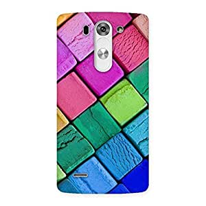 Wo Block Colors Back Case Cover for LG G3 Beat