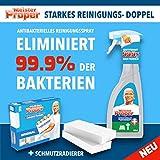 Meister Proper Set Reiniger Spray Antibakteriell 99,9% 500ml +2 Schmutzradierer