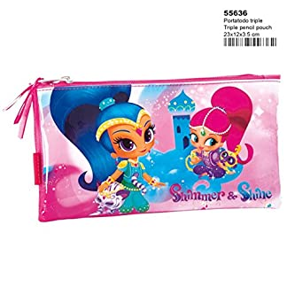 PERONA-55636 Shimmer and Shine Estuche, Color (Multicolour), 23 cm (55636