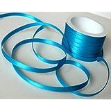 Satin 6mm Ruban de satin décoratif de 50mx6mm Bleu glacé/turquoise