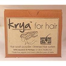 Krya Intense Herbal shampoo powder -with 21 rich Ayurvedic herbs for weak hair & high hairfall- SLS free, SLeS free, Sulphate free, Paraben free, Silicone free, Synthetics free , All Natural - 100 gm Description: (200)