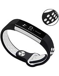 Hanlesi Armband für Fitbit Alta and Alta HR , weiches Silikon sports strap Ersetzerband Silikagel band Fitness verstellbares Uhrenarmband für Fitbit Alta and Alta HR
