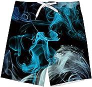 TUONROAD Niño Bañador Natación 3D Secado Rápido Ropa de Playa Hawaiano Pantalones Cortos con Bolsillos Lateral