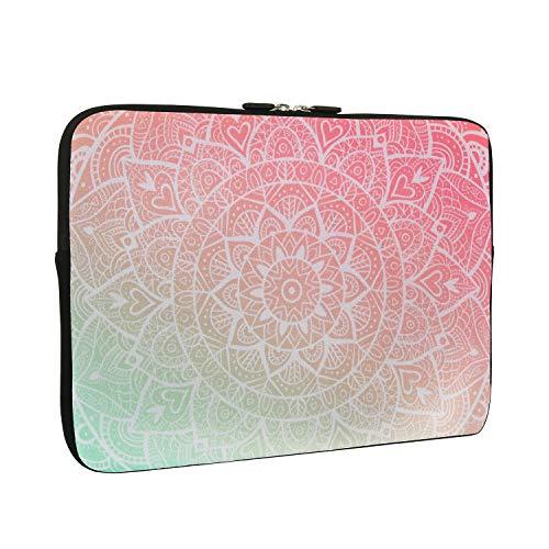 Tablet Sleeve Tasche 9,7 Zoll Rosa Blume Design Leichtes Gewicht Stoßfest iPad Skin Tasche für Mädchen und Frauen Rosa Tablet Tragetasche Tasche Tasche für Tablet und iPad 9,7 Zoll Mehrfarbig Mandala