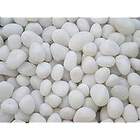 OhhSome [1KG] White Pebbles Pebbles Pebbles Decorative Stone For Garden/Lawn/Aquarium Decoration Pebbles For Fish Bowl…