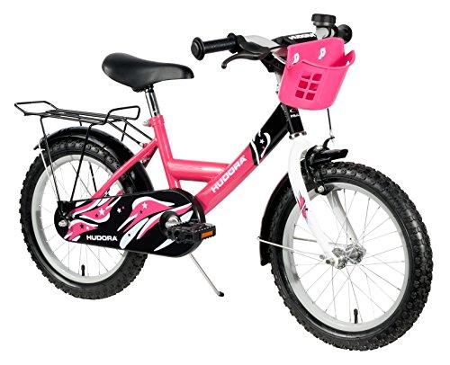 HUDORA Kinder-Fahrrad, pink, mit Stützrädern - Fahrrad für Mädchen, 12 Zoll, 10542