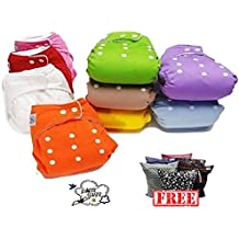 Pocket pañales lavables Pocket 5 piezas + 5 Puntas – Omaggio Wet Bag – Polar – Bebé