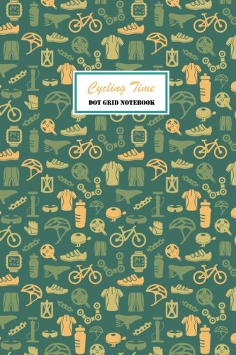 Cycling Time Dot Grid Notebook: 120 pages Cream Paper Compact 6