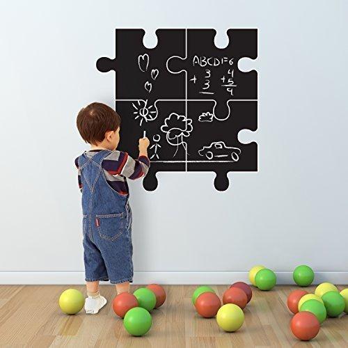 27 x 27 cm, Walplus-Adesivi per parete, motivo: lavagna a