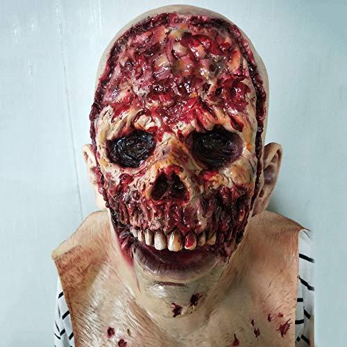 SEJNGF Halloween Thriller Item Horror Gruselige Zombiemaske Vampirgesicht Zombiemaske Goblin