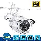 YKS IP Camera Outdoor Wlan HD 720P Security Camera Video Surveillance Camera IR Night Vision IP66 (Überwachungskamera mit Personendetektion IP Kamera HD mit deutscher App/Anleitung/Support)
