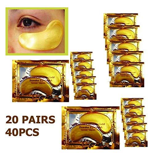 20 Paar Kristallkollagen 24k Gold unter Augengel Pad Gesichtsmaske Falten Anti Aging - Elemis Auge