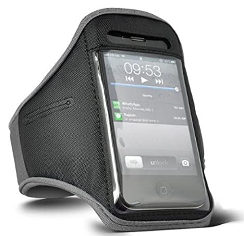 DIGI PIG GREY SPORTS ARMBAND STRAP POUCH CASE FOR APPLE