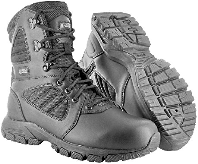 HI TEC   Magnum Lynx 8.0 Black Side Zip Schuhe Herren Boots Ranger Security Polizei Paintball Neu Größe 42 (UK8)