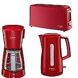 Frühstücksserie Bosch Compact Class LS im trendigen Rot 3 Teile=1Preis