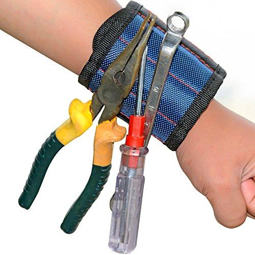 Magnet-Armband mit 5 starken Magneten für kleine Metall-Werkzeuge, Schrauben, Nägel von Haichen