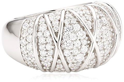 Joop Damen-Ring 925 Sterling Silber Zirkonia Mosaics weiß Gr.55 (17.5) JPRG90724A550