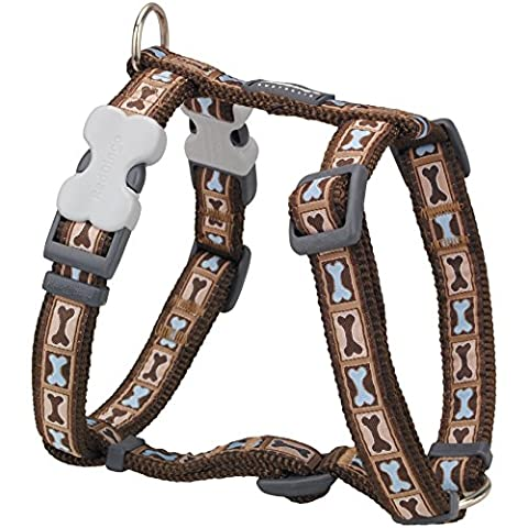 Red Dingo Bone Yard Brown Large Dog Harness