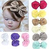 #8: Kupid® Babys Girls Chiffon Flower Elastic Headband -9Pc