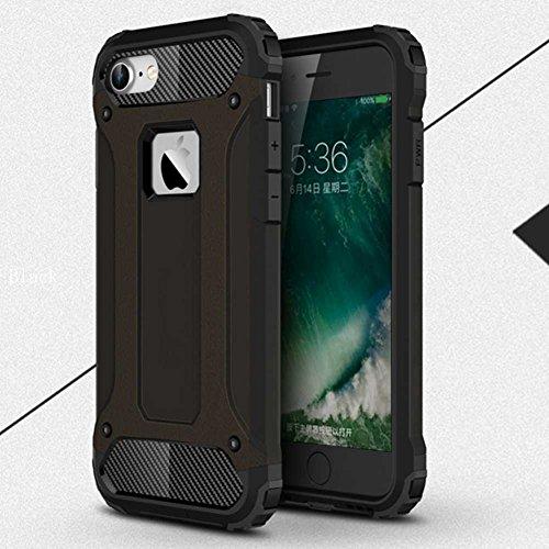 """iPhone 7 Plus Coque, AOFad Case Anti - poussière Protection des lourds 2-à-1 gris TPU Avec 10 Colors Diamond Accessoires Série Pour Femme Homme 5.5"""" I089 AOFad B332"""