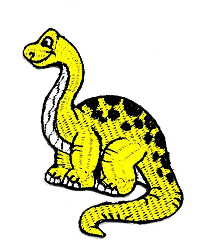 rabana gelb T-Rex Dinosaurier Tausend Jahre Cartoon Kids Kinder Cute Animal Patch für Heimwerker-Applikation Eisen auf Patch T Shirt Patch Sew Iron on gesticktes Badge Schild (Kostüme Handwerk Das Film)