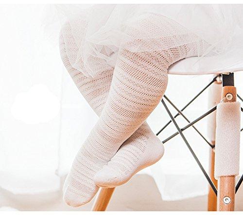 Swallowuk Baby Mädchen Sommer Hohl Strumpfhose Socken (EU 18/20, weiß)