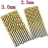 Chukchi50PCS Mini Micro Round Shank Drill Bits Set Small Precision HSS Twist Drill