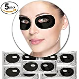 5 Paar Schwarze Vulkanerde Kollagen Gel Kristall Augen Falten Masken Poren Reinigung