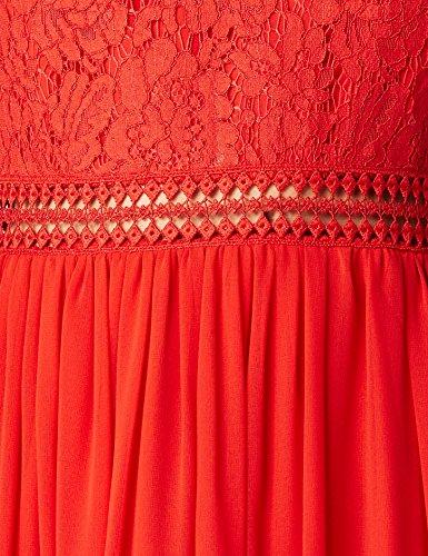 TRUTH & FABLE Damen Abendkleid mit Spitze und Rückenausschnitt