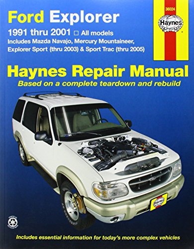 Ford Explorer, Mazda Navajo, Mercury Mountaineer (91 - 01) (Haynes Automotive Repair Manuals) by Jay (Ford Explorer Manuale)