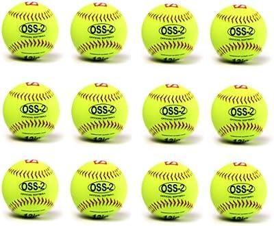 barnett–Pelota para softball, tacto suave, tamaño 12