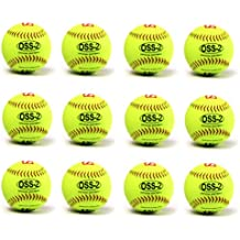Pelota Barnett para softball (30,5cm, 12 unidades), color amarillo