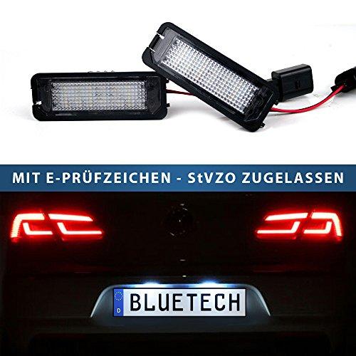 BLUETECH LED Kennzeichenbeleuchtung Kennzeichenleuchte Xenon-Optik
