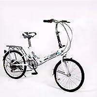 YEARLY Bicicleta plegable mujer, Adultos bicicleta plegable Las señoras bicicletas 6 velocidad de Shimano Hombres