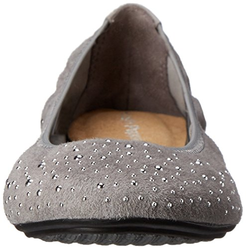Hush Puppies Ballet Lolly Chaste Flat Smoke Suede