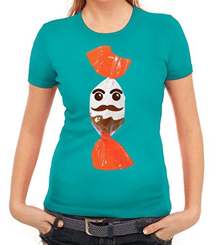 rkleidung Damen T-Shirt Gruppen & Paar Kostüm Schokoladenmännchen, Größe: XXL,Karibikblau (Halloween Kostüme Ideen Für Gruppen)