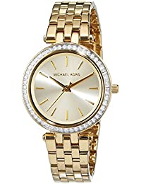 Michael Kors para mujer-reloj analógico de cuarzo chapado en acero inoxidable MK3365