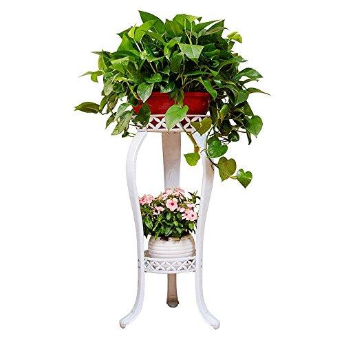 Lsjt mensola per fiori in ferro battuto portavasi da interno ed esterno balcone bianco fioriera decorativa angolare (colore : bianca)