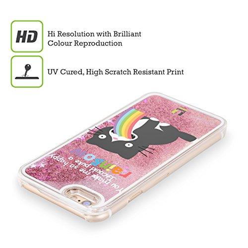 Head Case Designs Licorne Arc-En-Ciel Vomi Étui Coque Liquide Scintillez Rose pour Apple iPhone 5 / 5s Chat
