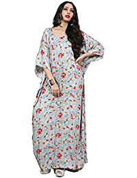 Justkartit Casual Wear Printed Kaftan / Latest Long Ankle Length Round Neck DailY Wear Kaftans