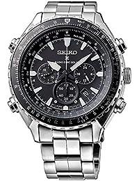Seiko Herren-Armbanduhr Chronograph Quarz Edelstahl SSG001P1