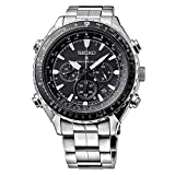 Seiko Men's Chronograph Quartz Watch with Stainless Steel Bracelet – SSG001P1